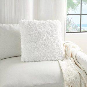 Mina Victory Yarn Shimmer Shag Throw Pillow NWT